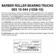 Barber Roller Bearing Trucks with Long Extension