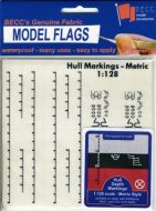 1/128 Hull Markings - White Metric