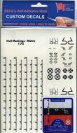 1/72 Hull Markings - White Metric